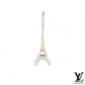 Louis Vuitton White Gold Diamond Eiffel Tower Charm